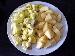 Aloo Gobi Cooking Step