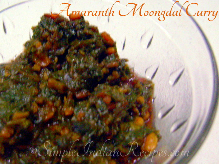 Amaranth Moong Dal Curry