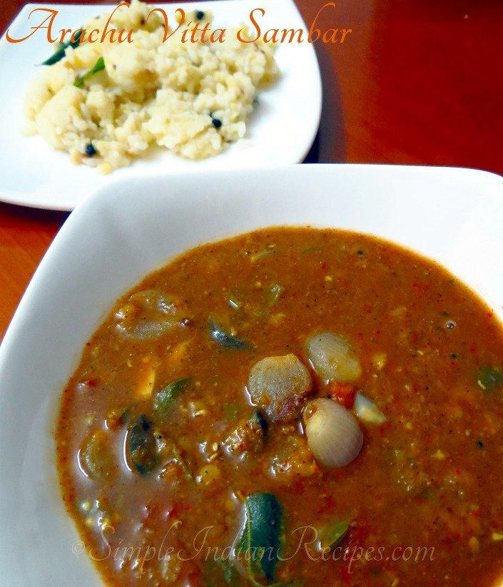 Tamil Wedding Food Menu: Arachuvitta Sambar - Kalyana Sambar