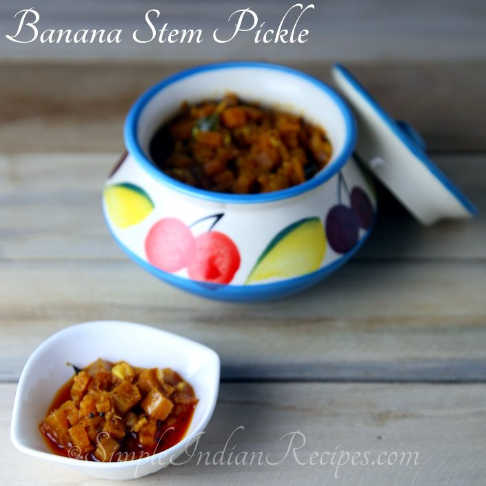 Banana Stem Pickle