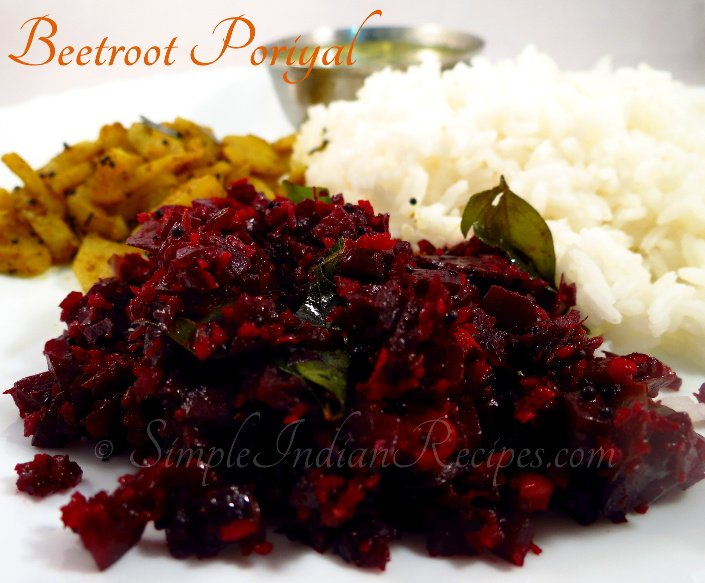 Beetroot Poriyal - Beetroot Thoran - Beetroot Stirfry ...