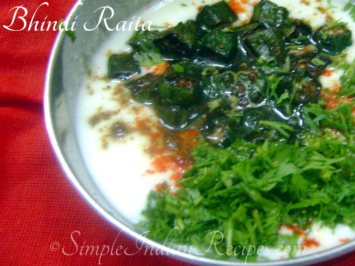 Ladies Finger Raita
