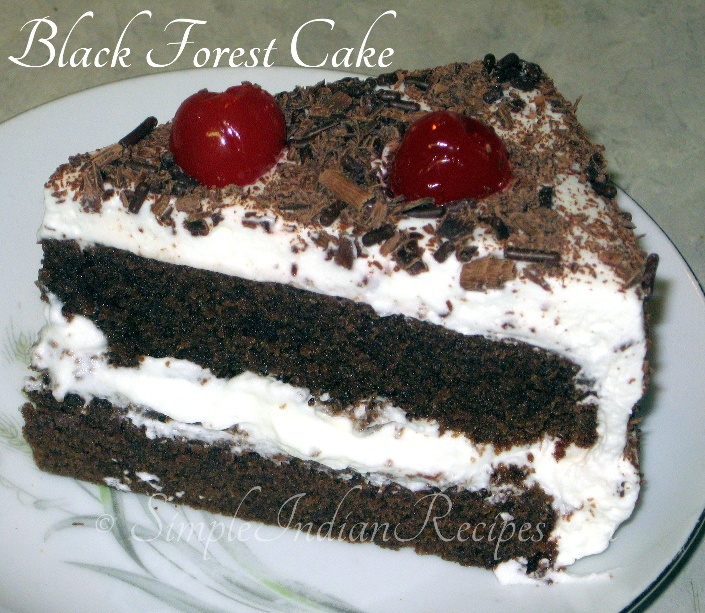 Simple Black Forest Cake Recipe | Simple Indian Recipes
