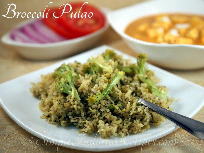 Broccoli Pulao Simple Indian Recipes