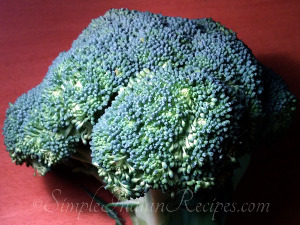 Garlic Broccoli Preparation Step