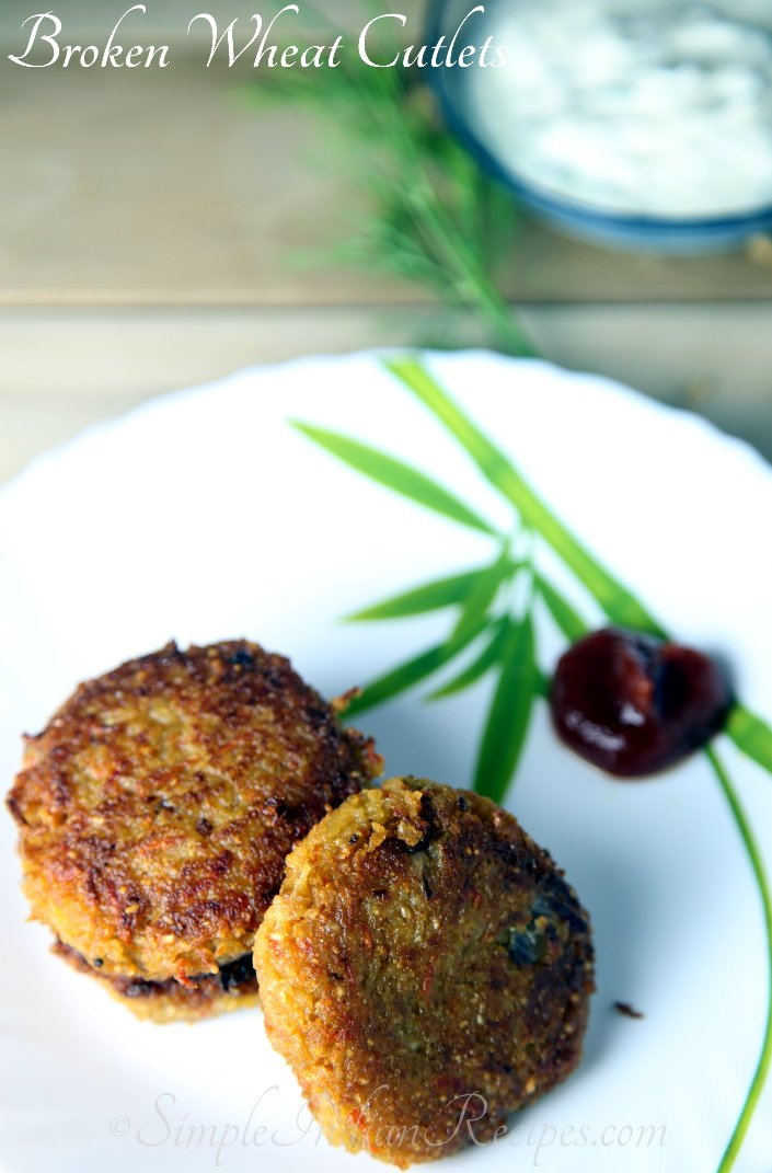 Broken Wheat Patties Recipe