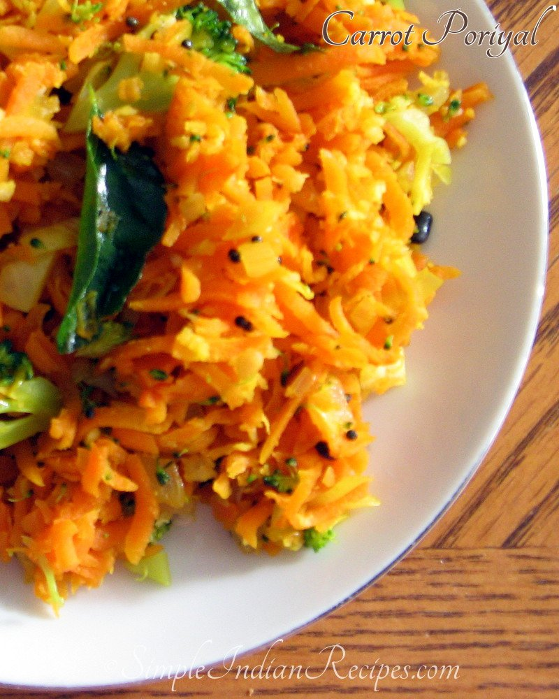 Grated Carrot Poriyal