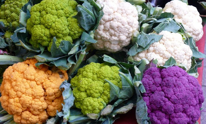 Cauliflower In Different Colors