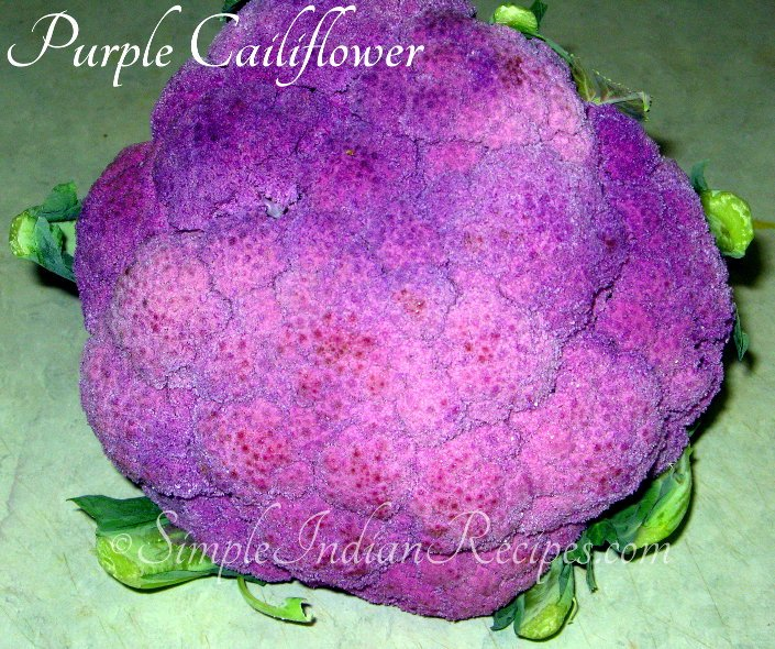 Aloo Gobhi Matar with Purple Cauliflower