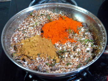 Chammandhi Podi Preparation Step