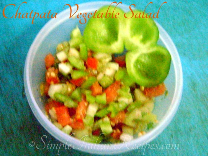 Chatpata Vegetable Salad