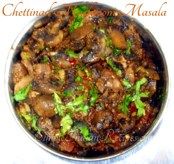 Chettinad mushroom masala simple indian recipes chettinad mushroom masala forumfinder Image collections