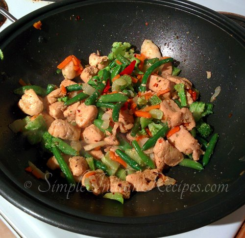 Chicken And Vegetable Saute Step
