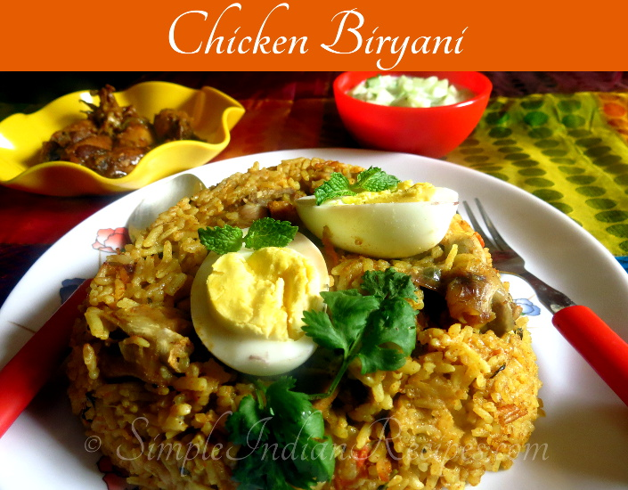 Chicken biryani biriyani simple indian recipes kozhi biryani chicken pulao murgh biryani forumfinder Images