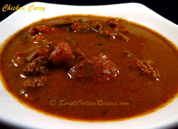 Kerala Style Chicken Curry With Roasted Coconut