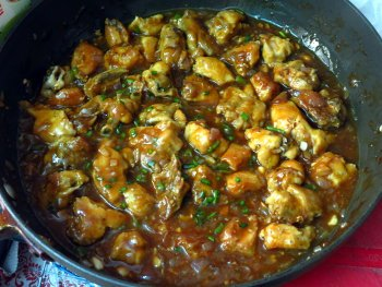 Chicken Manchurian Steps
