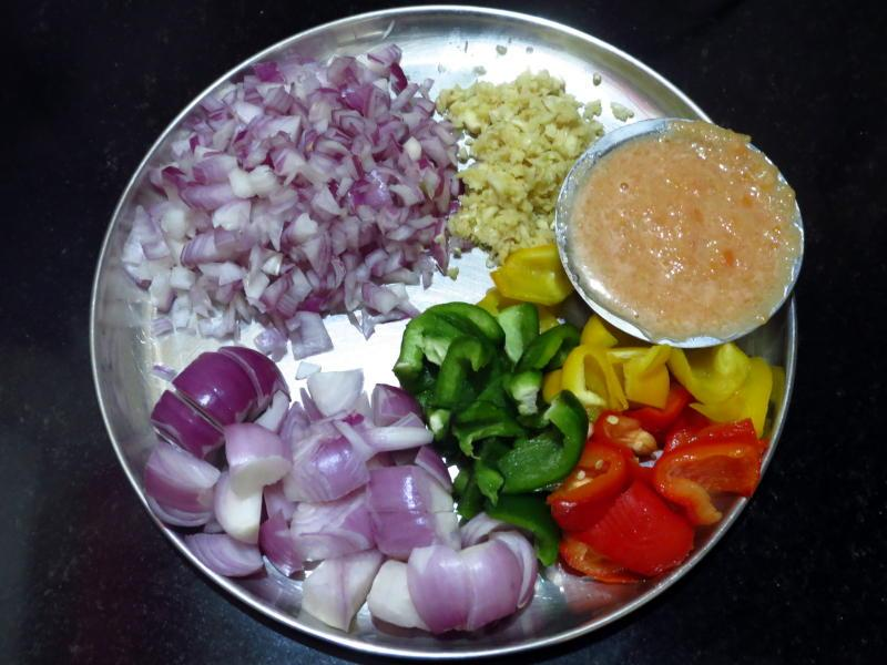Chicken tawa ingredients