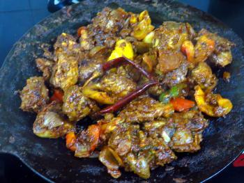 Chicken Tawa Preparation Steps