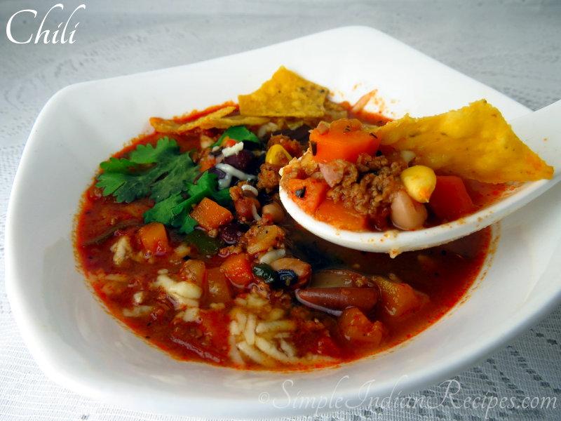 American Chili Chili Con Carne Simple Indian Recipes