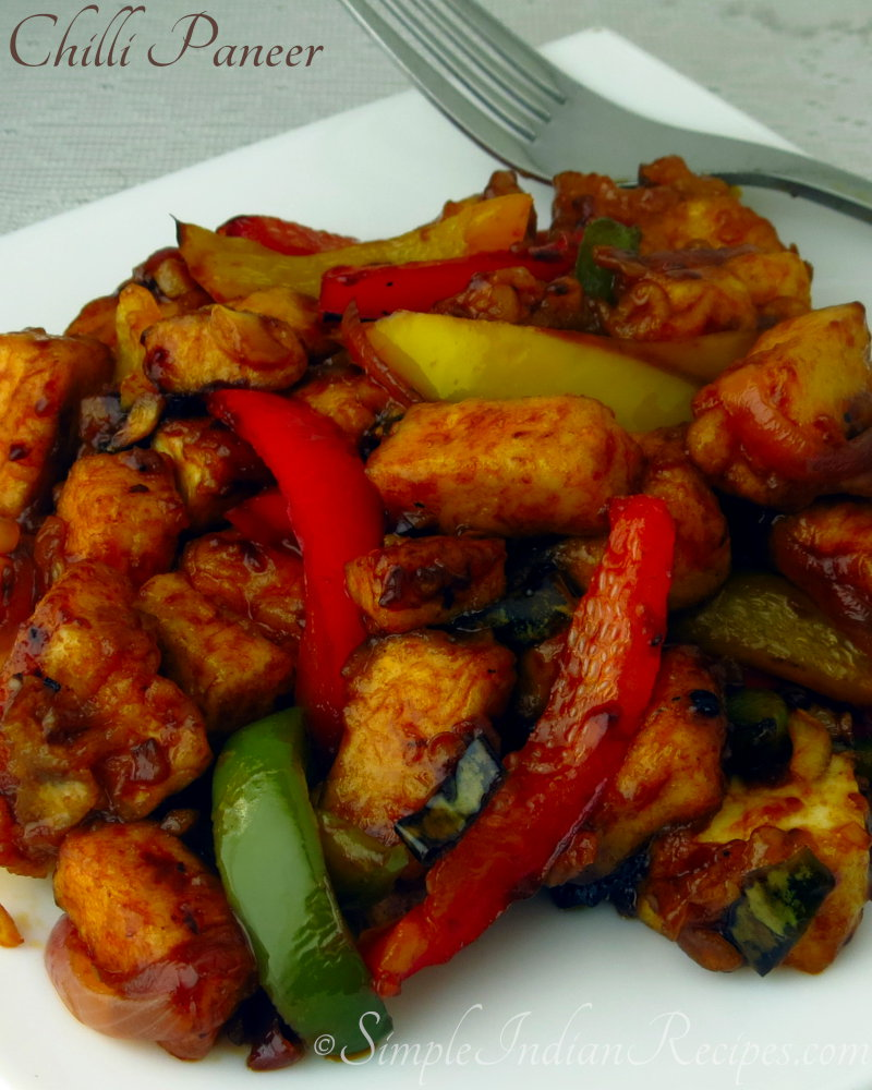 Chili Paneer Chilli Tofu Simple Indian Recipes