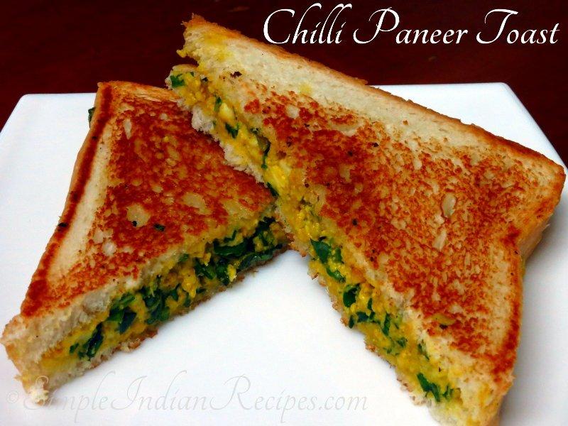 Chilli paneer toast sandwich simple indian recipes chili paneer toast sandwich forumfinder Images
