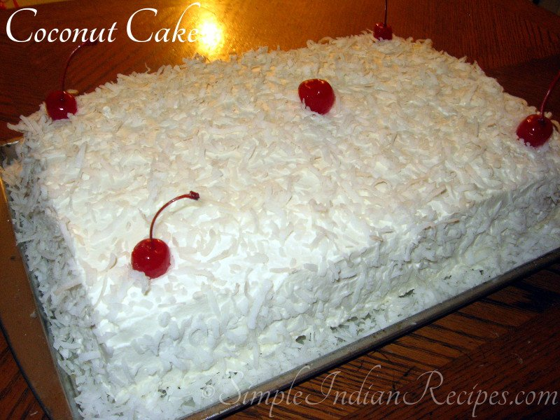 White Forest Cake Recipe In Pressure Cooker: Coconut Cake - 1234 White Coconut Cake