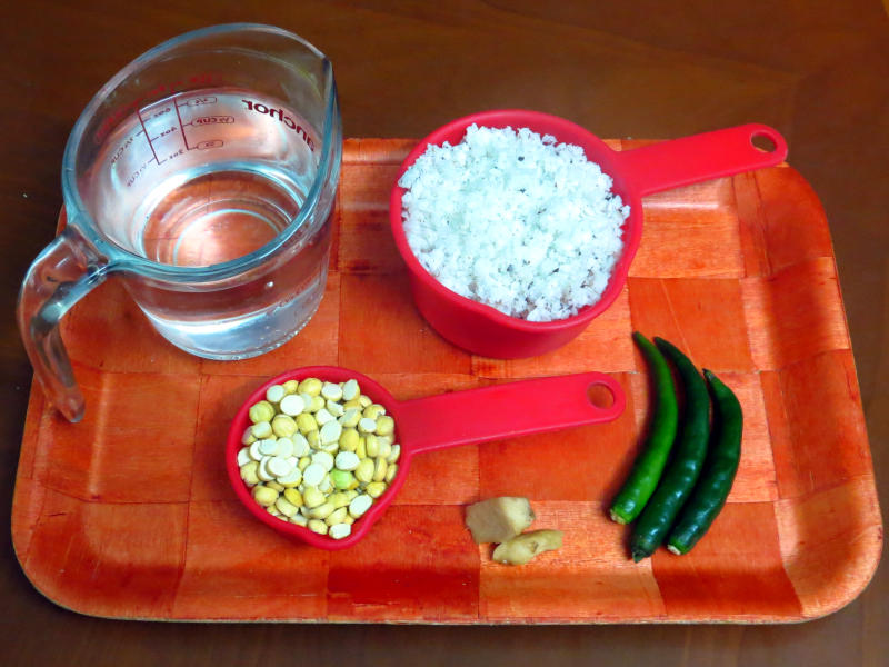 Coconut Chutney Ingredients