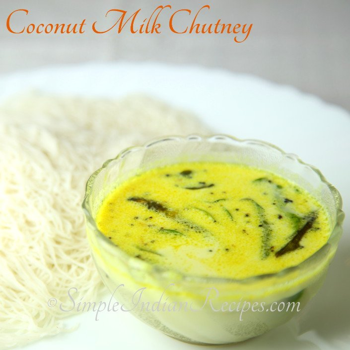 Coconut Milk Chutney