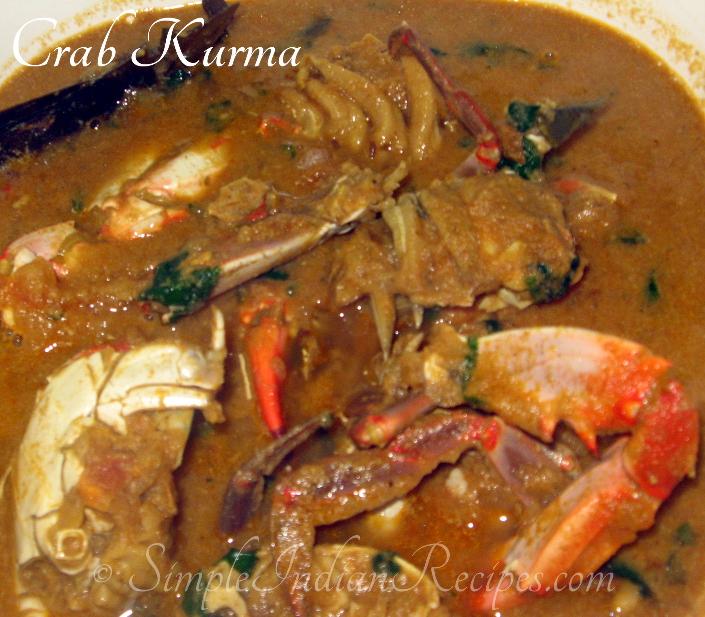 Crab Kurma Nandu Masala Chettinadu Nandu Kulambu Simple Indian Recipes