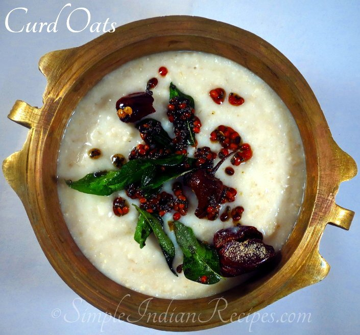 Curd Oats - Savory Yogurt Oats