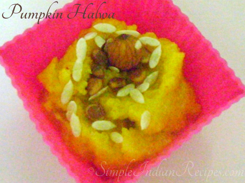 Diet Pumpkin Halwa
