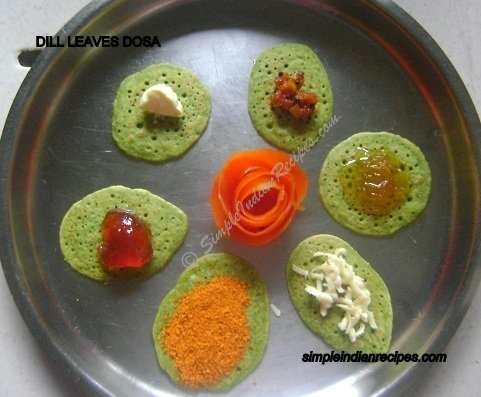 Dill Leaves Dosa
