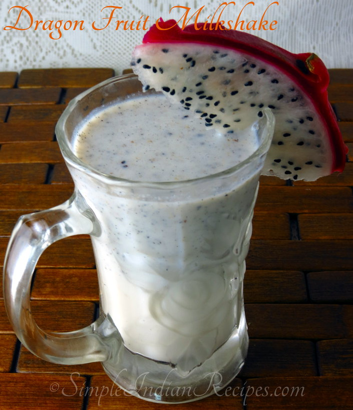 Dragon Fruit Milkshake