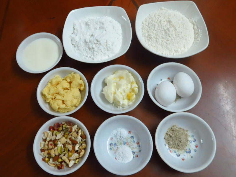Eggless Parsi Mawa Cake Ingredients