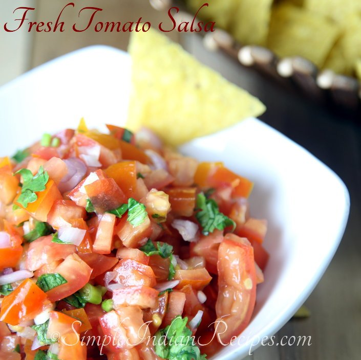 Fresh Tomato Salsa | Simple Indian Recipes