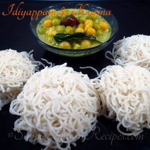 Idiyappam and Kurma