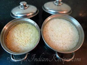 Homemade Idli Dosa Batter Steps