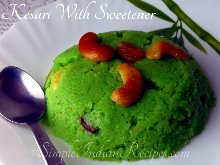 Rava Kesari With Sweetener