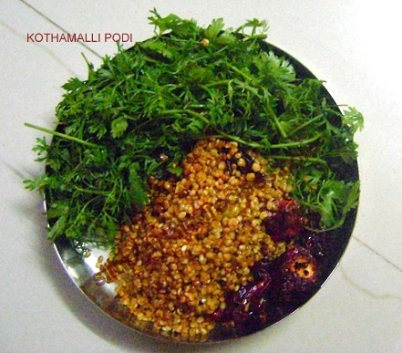 Kothamalli Podi Ingredients