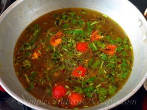 Chicken Rasam Preperation Step