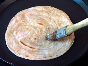 Lachha Paratha Preparation Step
