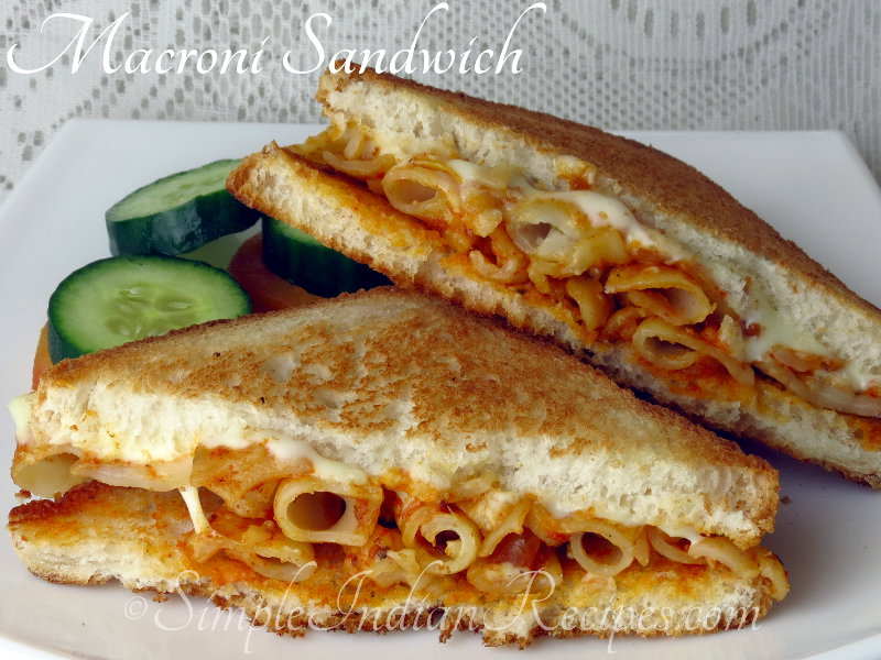 Macaroni Pasta Sandwich Simple Indian Recipes