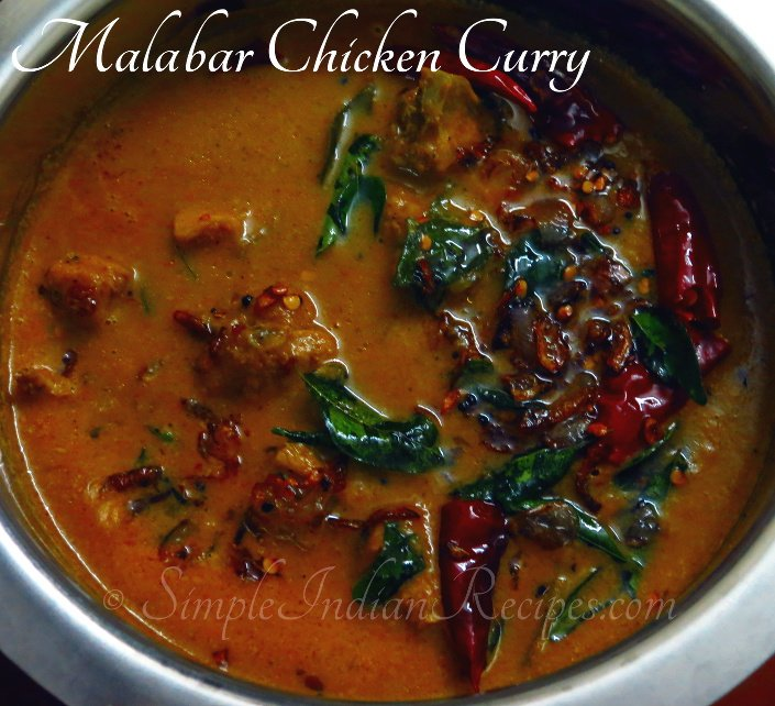 Malabar chicken curry simple indian recipes spicy chicken curry with coconut milk kerala kozhi curry ccuart Images