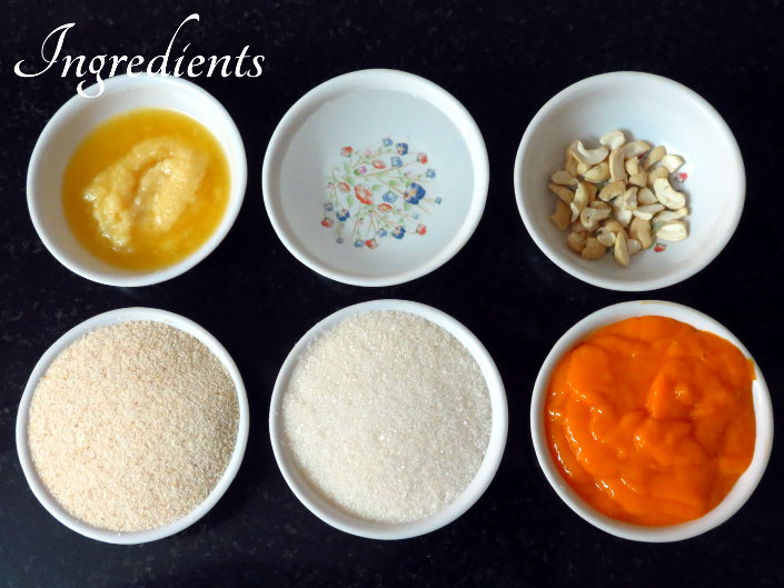 Mango Kesari Ingredients