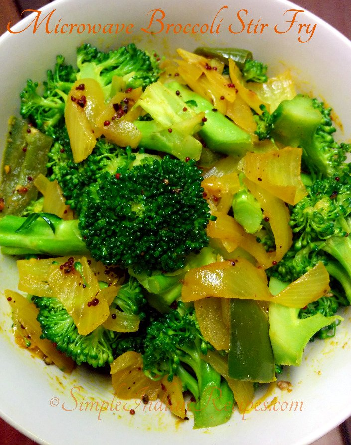 Microwave Broccoli Stir Fry