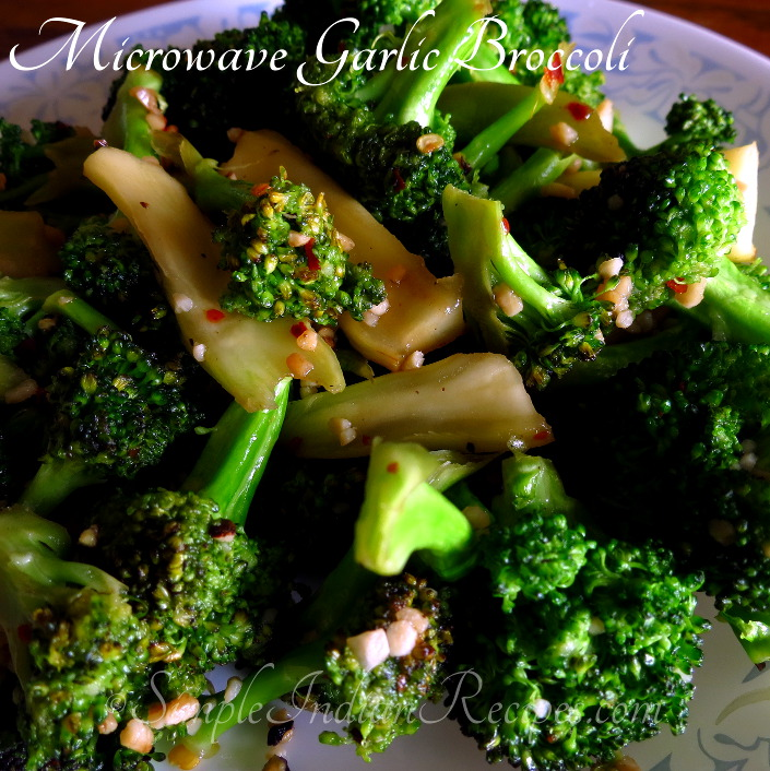 Microwave Garlic Broccoli