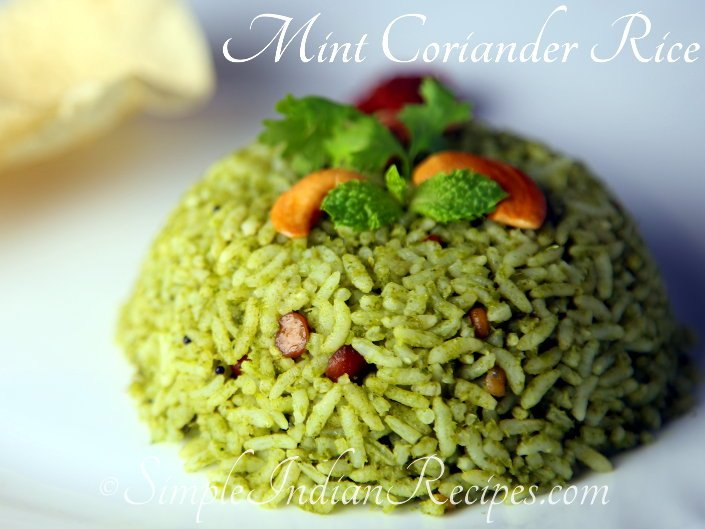 Mint Coriander Rice