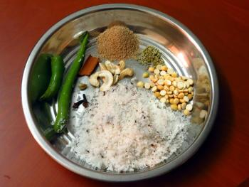 Mixed vegetable kurma preparation steps