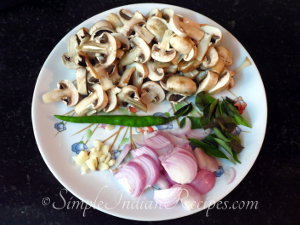 Mushroom Fry Preparation Step