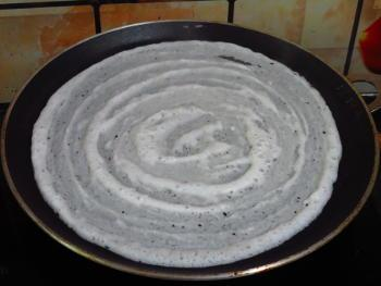 masala dosa preparation step